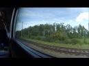 Нижний Новгород Московский Москва Курская полностью из окна поезда Стриж705Н 5 08 2016