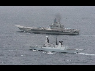 Russian Warships Pass Through Channel Watched By Royal Navy