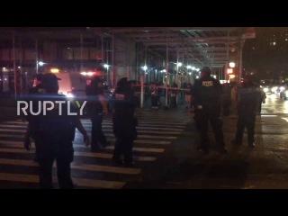 США: Манхэттен на строгой изоляции после взрыва наносит ущерб 26 в Нью-Йорке.