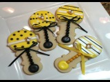 Baby Shower Rattle Cookies How To Mommy To Bee