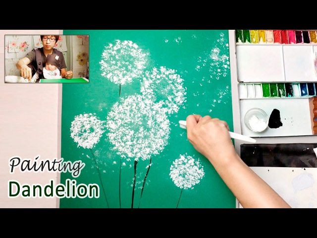 Dandelion Painting Techniques for Beginners | Easy Creative Art Projects
