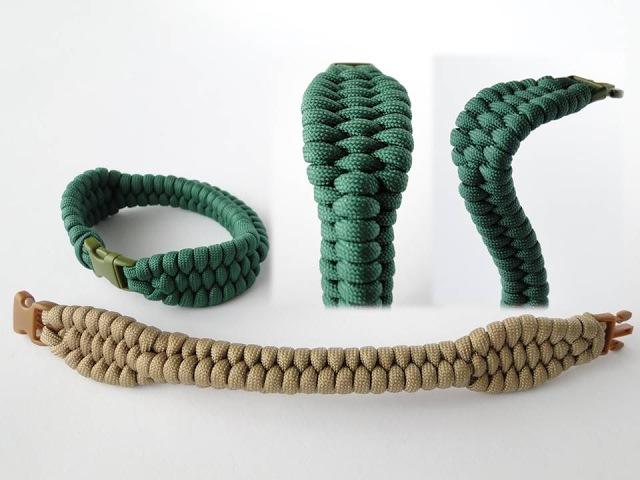 How to Make a Two Headed Cobra Paracord Survival Bracelet Trilobite Rattlesnake Mix