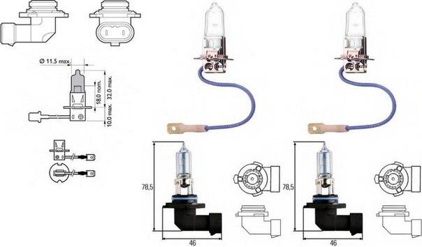 Лампа накаливания, фара дальнего света; Лампа накаливания, основная фара; Лампа накаливания, противотуманная фара; Лампа накаливания; Лампа накаливания, основная фара; Лампа накаливания, фара дальнего света для ALFA ROMEO GTV (916C_)