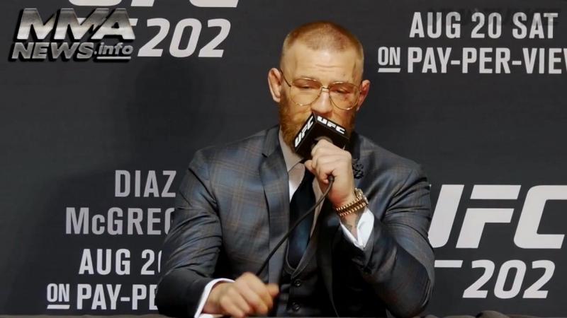 Лучшие моменты с пресс-конференции Конора Макгрегора после боя с Нэйтом Диазом 2016 UFC 202