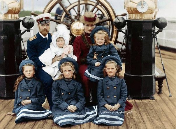 Императорская семейство России на борту Polar Star,