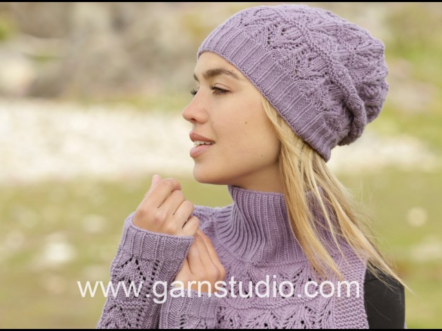 How to knit A.1 for the hat with lace pattern in DROPS 171-54