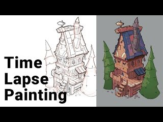 Adding Color to Sketch in Photoshop. Time Lapse