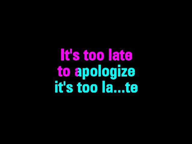 Apologize One Republic Feat Timbaland Karaoke You Sing The Hits