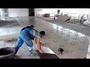 Промышленная укладка плитки 40 квадратов в час