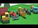 Развивающие мультики конструктор про машинки На детской площадке! Сборник!