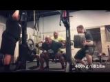 Эрик Лиллибридж - присед 425 кг