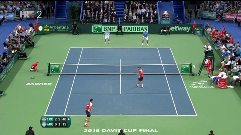 Cilic/Dodig - Del Potro/Mayer 3-0, zavrsnica meca za 2-1 Hrvatske, izjave (Davis Cup CRO-ARG), 26.11.2016. HD
