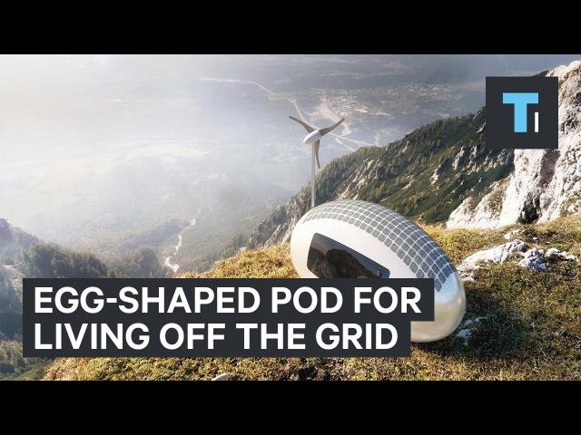 Egg-shaped pod for living off the grid