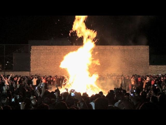 Zoroastrians Celebrate Fire Festival in Iran