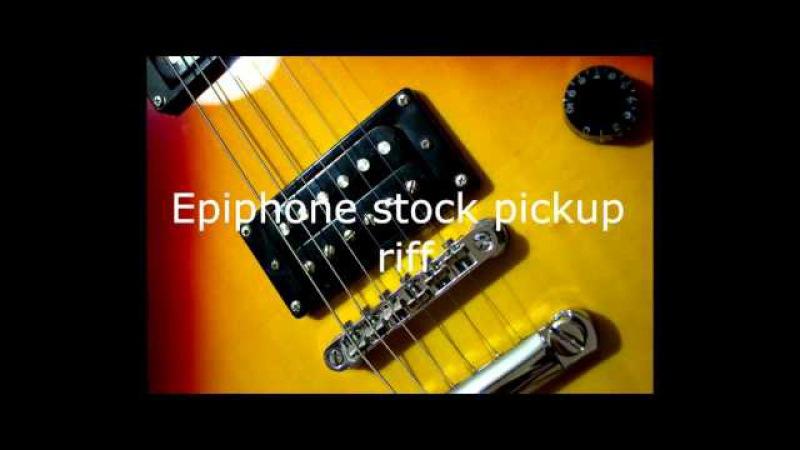 Pickup comparison - Bill Lawrence l500 vs Kramer Epiphone stock