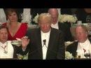 Full monologue Donald Trump roasts Hillary Clinton at Al Smith charity dinner