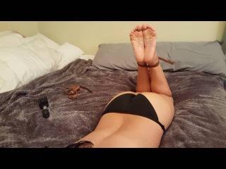 Ticklish bare feet