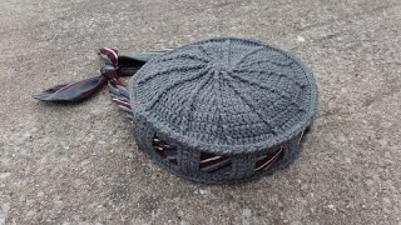 CROCHET How To Crochet Tie or Belt Handbag Purse TUTORIAL 340 supersaver