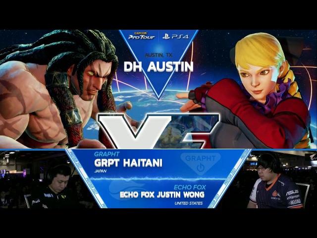 SFV: GRPT Haitani vs Echo Fox Justin Wong - Dreamhack Austin 2017 Top 8 - CPT2017