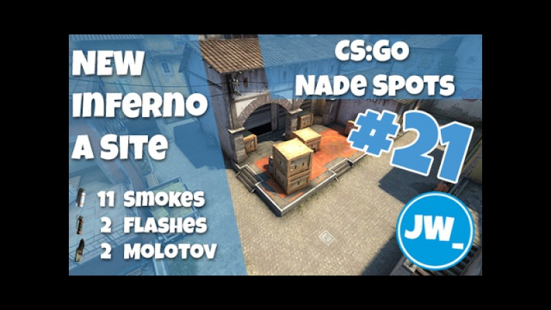 New Inferno A Site - 3 Strats 11 Smokes, 2 Flashes 2 Molotovs Top - CS:GO Nade Spots Infernew
