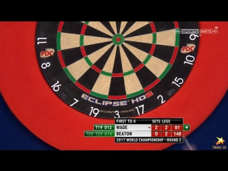 James Wade vs Steve Beaton (PDC World Darts Championship 2017 / Round 2)