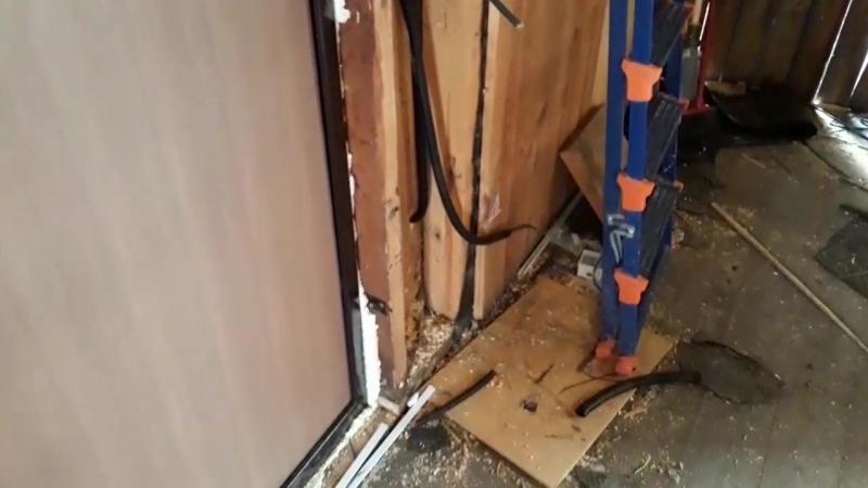 Электромонтаж дома и бани под зашивку с выводом для беседки