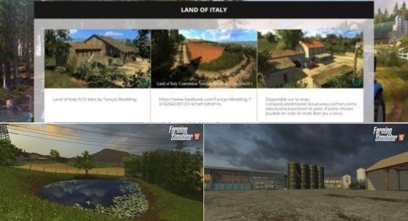 Карта «Land of Italy»