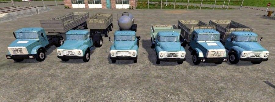 Пак грузовиков «ЗиЛ» и прицепы