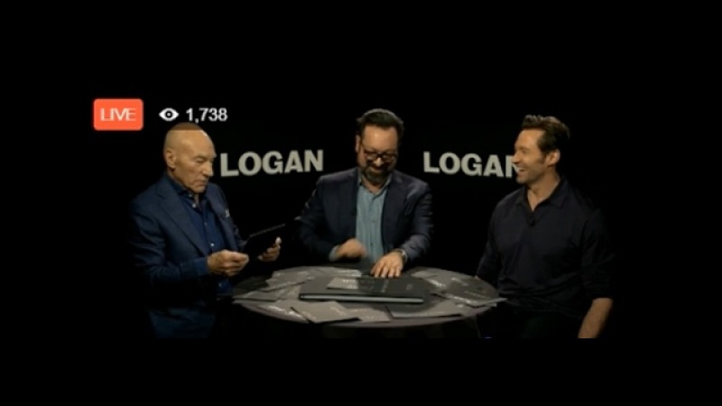Hugh Jackman,Patrick Stewart and James Mangold,live on Facebook from London