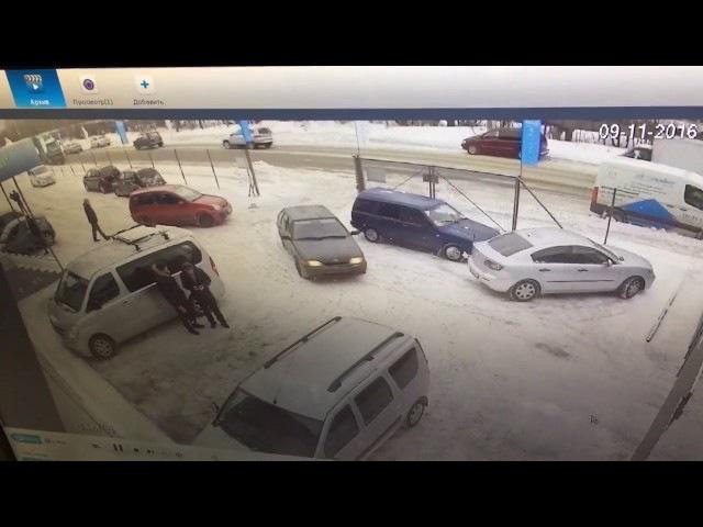 ДТП Верхняя ул./2-й верхний пер. Виновник скрылся. The perpetrator of the accident fled