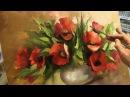 Урок живописи Маки Пишем мастихином Обучение живописи