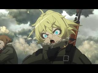 Youjo Senki 1 серия русская озвучка IIIaurma & Arihara / Военная хроника маленькой девочки 01
