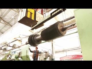 Установка ротора ГТТ-3М в токарный станок