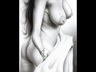 Painting a Nude Woman | Step by Step of Creating a Female Erotic Drawing | How to Draw Oil Painting