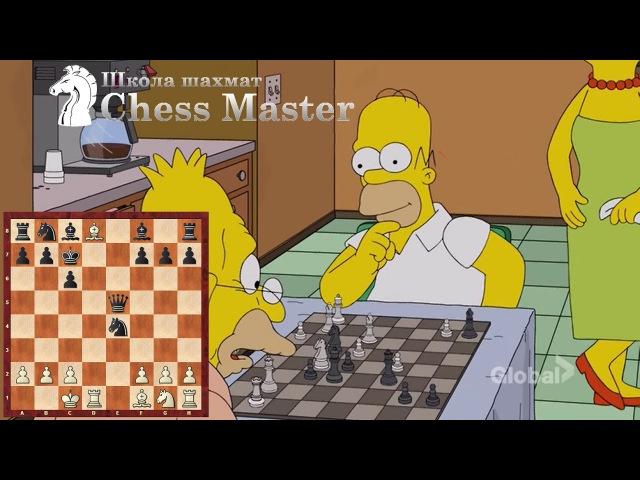 Шахматы в Симпсонах. Магнус Карлсен тренирует Гомера!