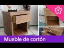 Hacer un Mueble de cartón con apariencia de madera DIY - DecoAndCrafts