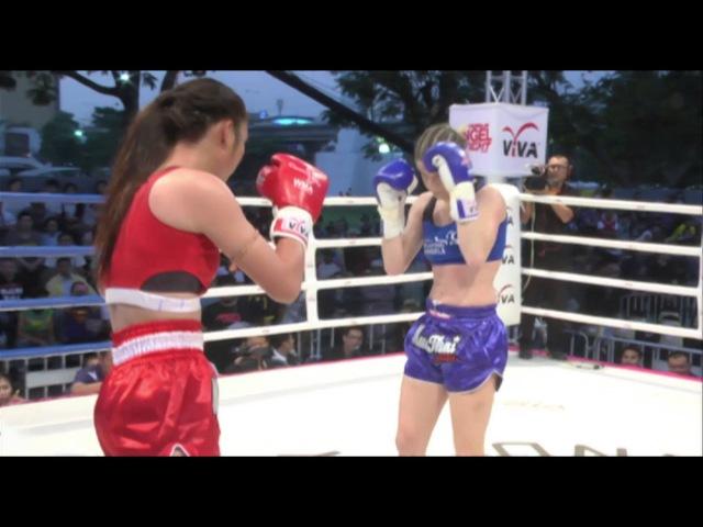 สุดสวยมวยไทย : สายฟ้า ส.สุภารัตน์ vs Miriam Sabot (Italy) 58 กก.