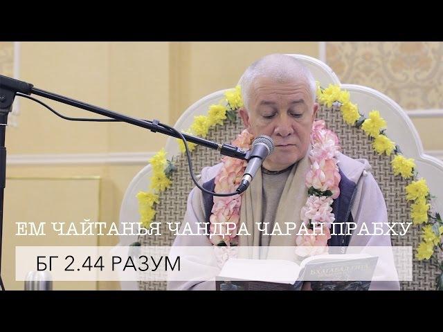 ЕМ Чайтанья Чандра Чаран Прабху - БГ 2.44 Разум (Алматы 2017)