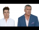 Ash vs Evil Dead Stars Bruce Campbell Lucy Lawless React to Horror Films