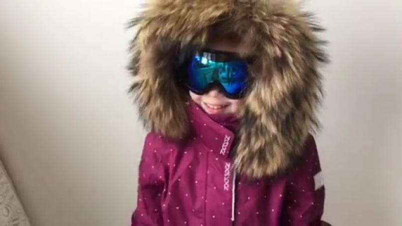 Видеообзор детского зимнего комбинезона Reima от инстаблогера @kotletka