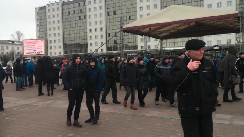 Митинг белорусов в Витебске