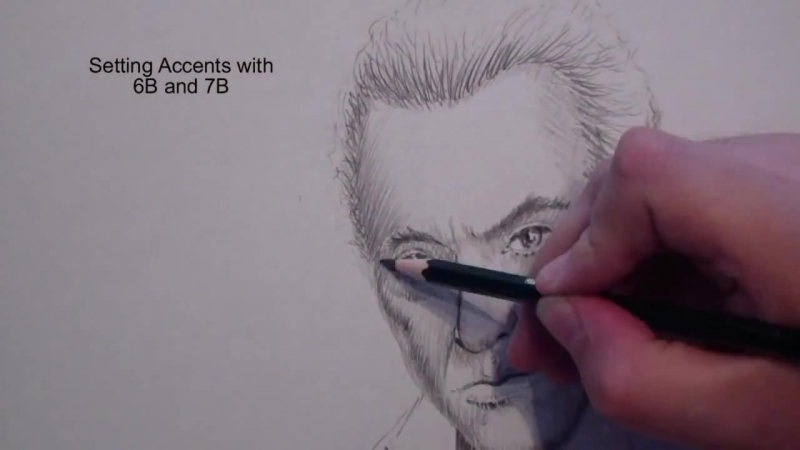 How to draw James Nesbitt, the Hobbit Dwarf Bofur with Faber Castell Pencils by Peter Schunk