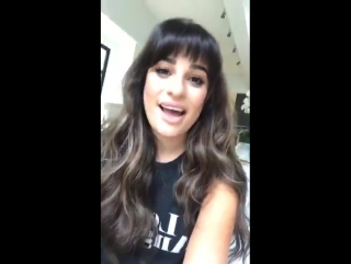 Lea Michele talking about Darren Criss sending her a video on New Year's Eve