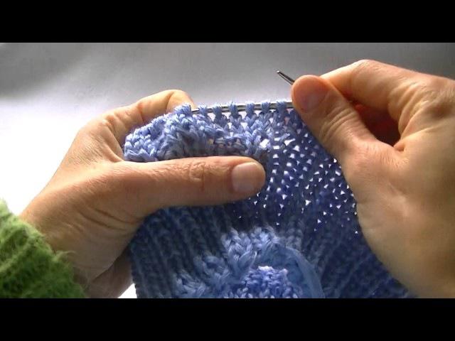 Вязание шапки узором Коса с 12 петель.Knitting hats pattern Kos with 12 loops