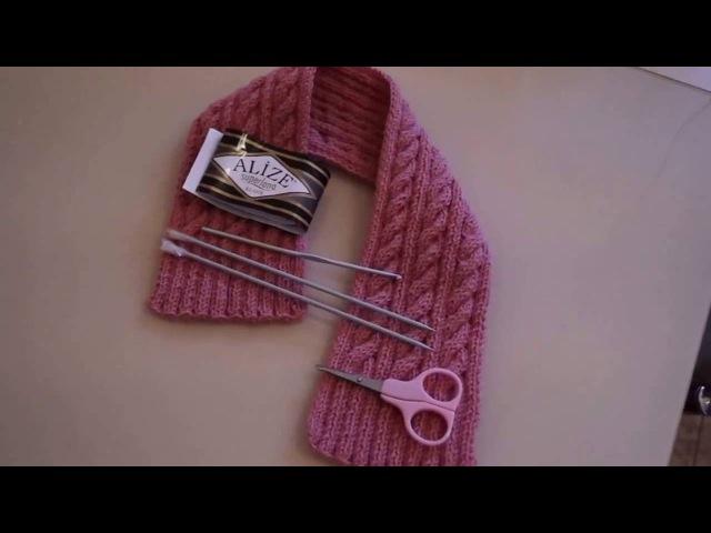 Детский шарф для начинающих\A kids scarf for beginners