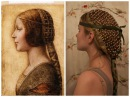 Collaboween DIY Hair Snood inspired by Da Vinci's La Bella Principessa