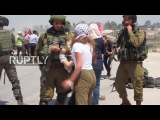 State of Palestine Protesters face off with soldiers after man shot at hunger strike march