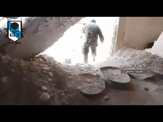 Siria - Damasco Kaboun - El Ejército toma y destruye túneles terroristas - 13 Mayo 2017