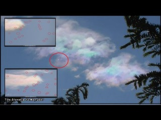 UFO fleet and Mother ship hidden in a colorful cloud – Slovakia, May 12, 2017