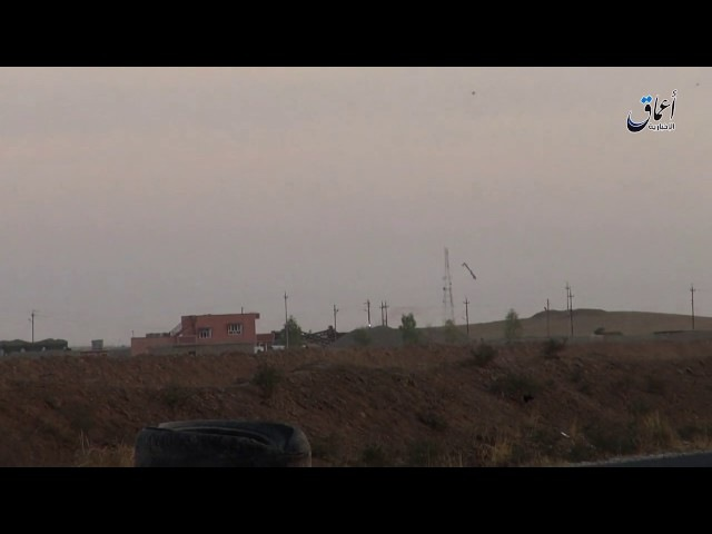 Video Terkini jatuhnya pesawat Amerika tanpa awak di dekat bandara Tal'afar di barat Mosul